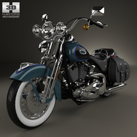 Harley-Davidson FLSTS Heritage Springer 2002 3D Model