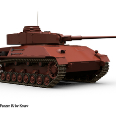 Improved Panzer IV by Krupp 3D Model