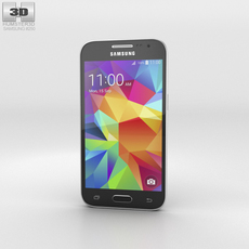 Samsung Galaxy Core Prime Black Phone 3D Model