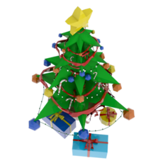 Stylized Xmas tree 3D Model