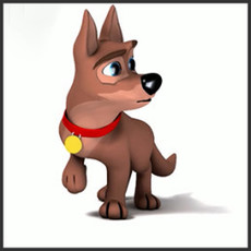 Cody Rigged Dog Character for Maya 5.1.6