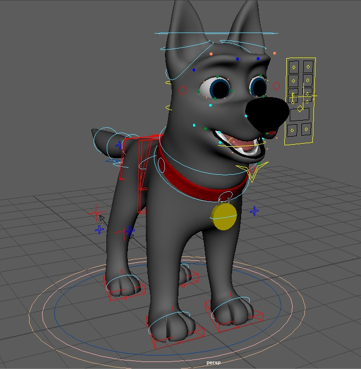 Cody Rigged Dog Character for Maya - Free Character Rigs Downloads ...