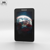 Lenovo A7-30 A3300 White Phone 3D Model