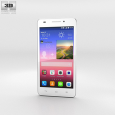 Huawei Ascend G620S White Phone 3D Model