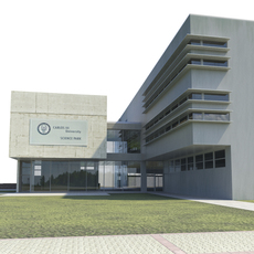 Office building - High-tech university headquarters 3D Model