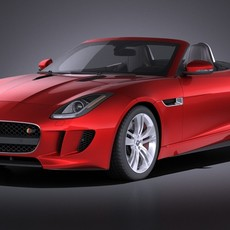 Jaguar F-Type 2015 cabrio VRAY 3D Model