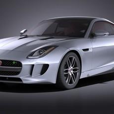 Jaguar F-Type R Coupe 2015 VRAY 3D Model