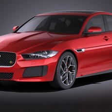 Jaguar XE S 2017 VRAY 3D Model