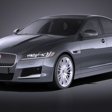 Jaguar XF 2017 bixenon VRAY 3D Model