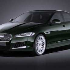 Jaguar XF 2017 VRAY 3D Model
