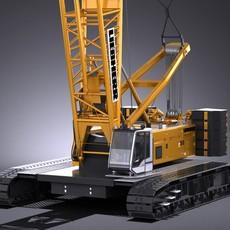 Liebherr LR 1160 Hydraulic Lift Crane 3D Model