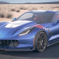 Chevrolet Corvette Grand Sport 2017 desert studio 3D Model