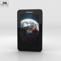 Lenovo A7-30 A3300 Black Phone 3D Model