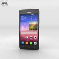 Huawei Ascend G620S Black 3D Model