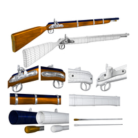 Cap-N-Ball Rifle FBX OBJ 3D Model