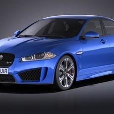 Jaguar XFR-S 2016 VRAY 3D Model