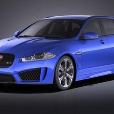 Jaguar XFR-S Sportbrake 2016 VRAY 3D Model