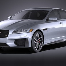Jaguar XFS 2016 VRAY 3D Model