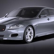 Jaguar XJR 2015 VRAY 3D Model