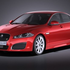 Jaguar XF-R 2015 VRAY 3D Model