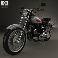 Harley-Davidson FXS Low Rider 1980 3D Model