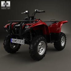 Yamaha Grizzly 700 2013 3D Model