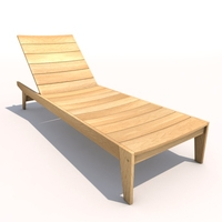 Sun Lounger - Flatwood 3D Model