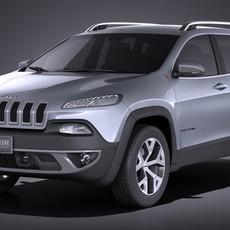 Jeep Cherokee Euro 2015 VRAY 3D Model