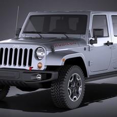Jeep Wrangler Rubicon 2016 VRAY 3D Model