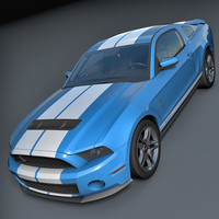 Ford Shelby GT500 2010 3D Model