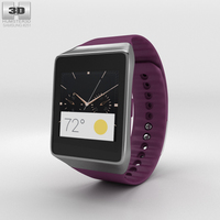 Samsung Gear Live Wine Red Watch 3D Model