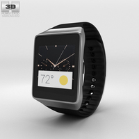 Samsung Gear Live Black Watch 3D Model