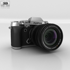 Fujifilm X-T1 Silver Camera 3D Model