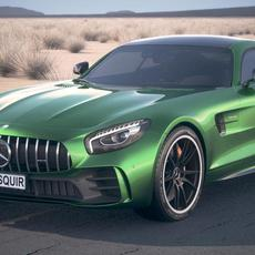 Mercedes AMG GT R 2017 DesertStudio 3D Model