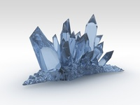 Fantasy Crystals 3D Model