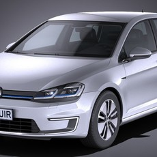 Volkswagen e-Golf 2017 3D Model