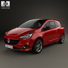 Vauxhall Corsa (E) 3-door 2014 3D Model