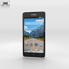 Huawei Ascend Y530 White Phone 3D Model