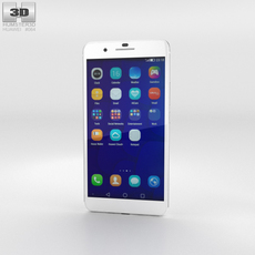Huawei Honor 6 Plus White Phone 3D Model