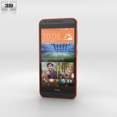 HTC Desire 620G Saffron Gray Phone 3D Model