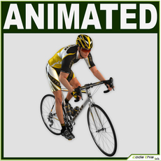 Realistic Male Cyclist 3D Model