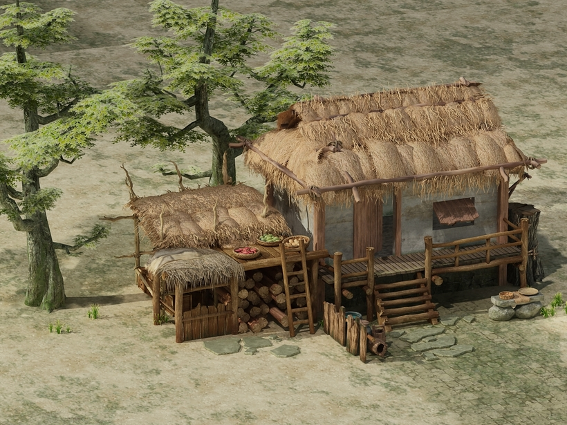 Old House 01 3D Model