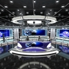 Virtual TV News Set 1 3D Model