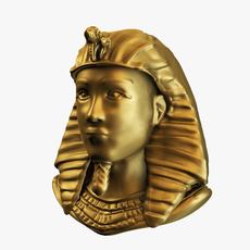 egyptian golden bust 3D Model