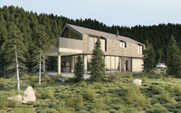 Vray Exterior Lighting Daylight Settings - rendering forest scene 3D Model