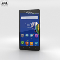 Lenovo A536 Black Phone 3D Model