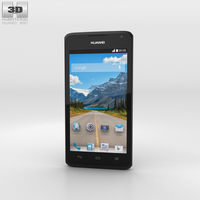 Huawei Ascend Y530 Black Phone 3D Model