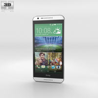 HTC Desire 620G Marble White Phone 3D Model