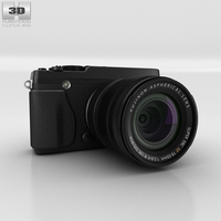 Fujifilm X-E1 Black Camera 3D Model