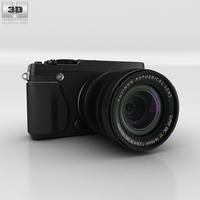 Fujifilm X-E1 Black Camera 3D Model